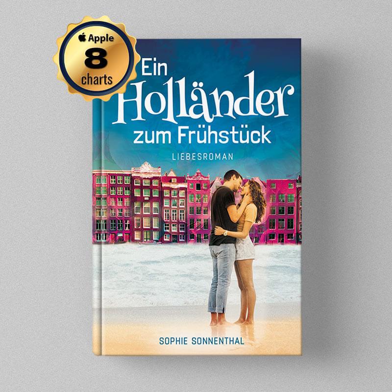 Buchcover Design - Sophie Sonnenthal - Ein Holländer zum Frühstück