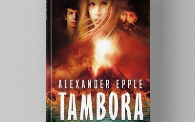 Buchcover Design für Alexander Epples Abenteuerroman Tambora