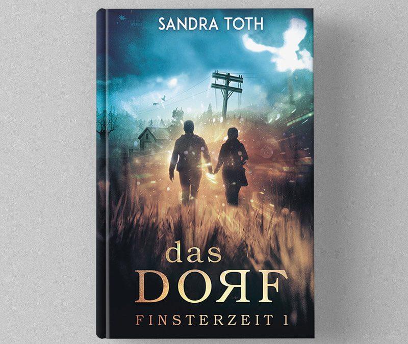 Buch Cover Design für Sandra Toth's Finsterzeit Trilogie