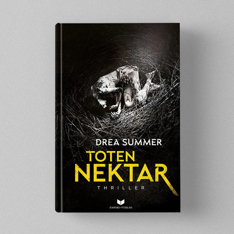 Buchcover Design Drea Summer - Totennektar
