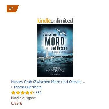Herzberg's Roman Zwischen Mord und Ostsee auf Platz 1